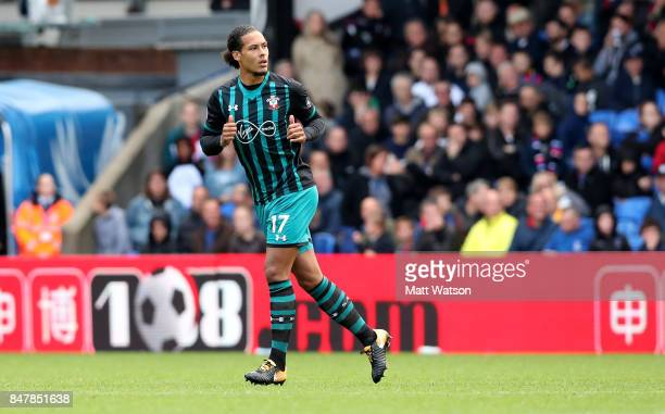 Southampton's Virgil Van Dijk during the Premier League match between Crystal Palace and Southampton at Selhurst Park on September 16 2017 in London...
