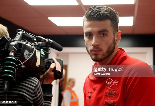 Southampton's Wesley Hoedt arrives ahead of the Premier League match between AFC Bournemouth and Southampton at the Vitality Stadium on December 3...