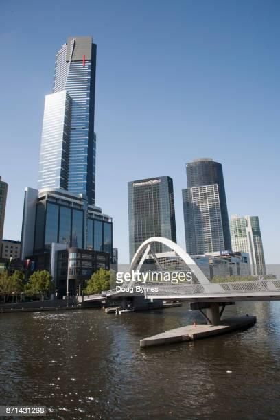 Southbank Pedestrian Bridge across the Yarra River