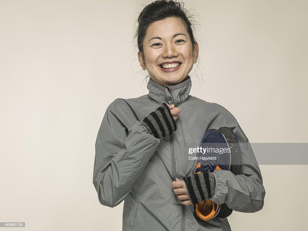 Southeast Asian woman with sports wear