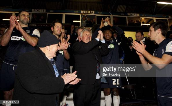 Southend manager Paul Sturrock celebrates after the final whistle during the Johnstone's Paint Trophy Southern Section Final match between Southend...