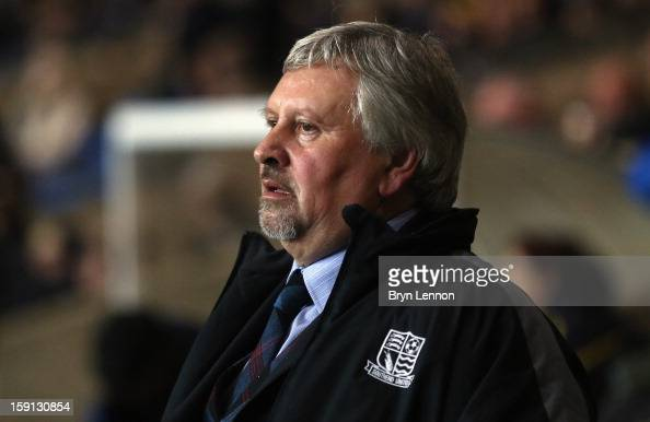 Southend United Manager Paul Sturrock looks on prior to the Johnstone's Paint Trophy Southern Section Semi Final between Oxford United and Southend...