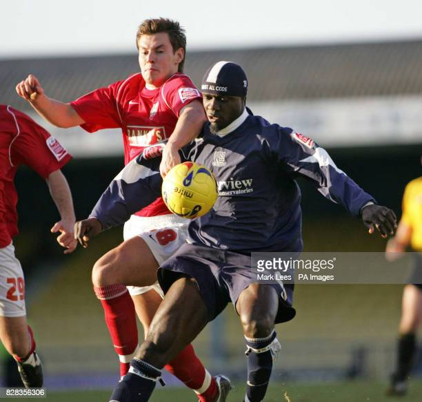 Southend's Efetobore Sodje challenges Walsall's Andrew Barrowman during the CocaCola League One match at Roots Hall Southend Saturday February 25...