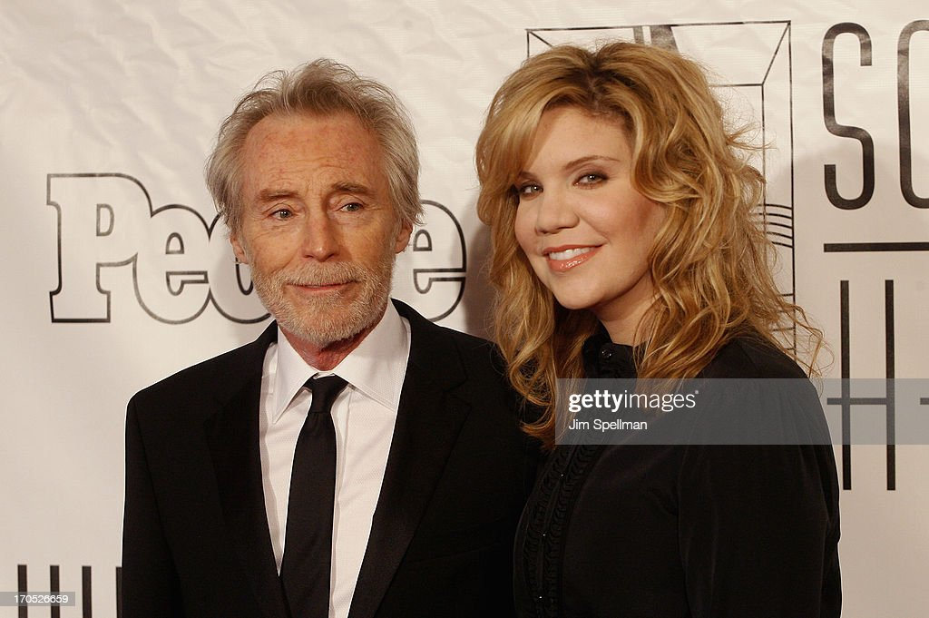 J. D. Souther and singer/songwriter <a gi-track='captionPersonalityLinkClicked' href=/galleries/search?phrase=Alison+Krauss&family=editorial&specificpeople=203194 ng-click='$event.stopPropagation()'>Alison Krauss</a> attend the 2013 Songwriters Hall Of Fame Gala at Marriott Marquis Hotel on June 13, 2013 in New York City.