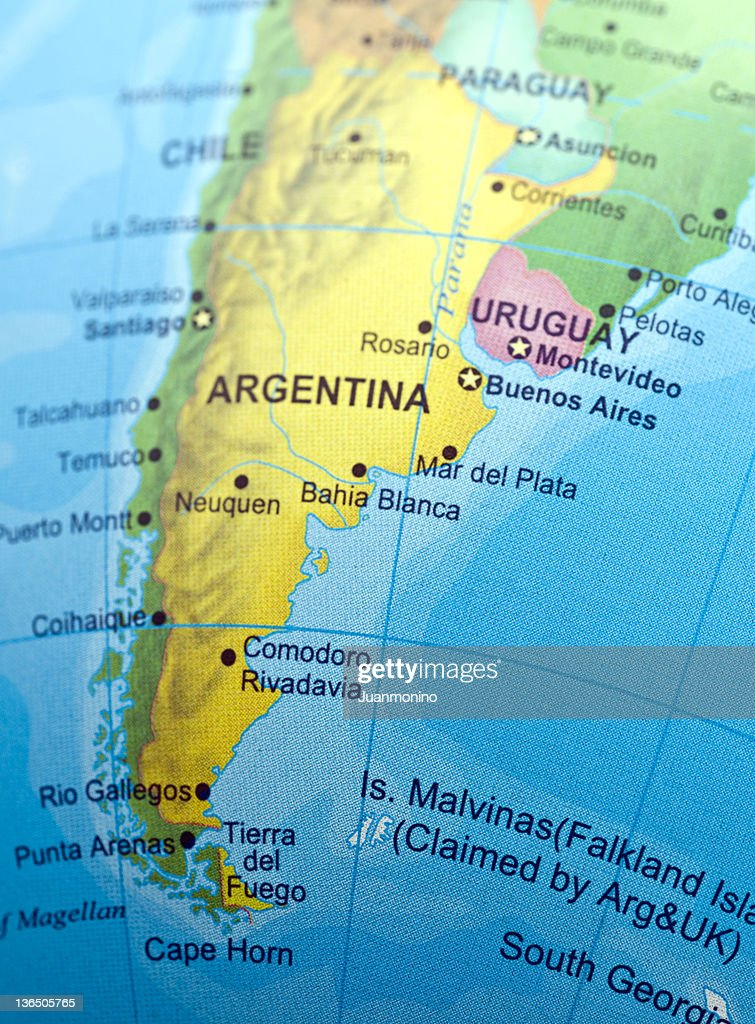Southern Argentina Stock Photo Getty Images - Argentina cape horn map