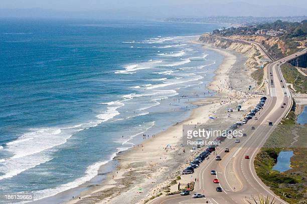 Southern California beach from above