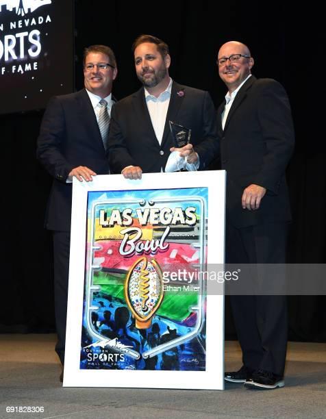Southern Nevada Sports Hall of Fame Chairman Dale Eeles Las Vegas Bowl Executive Director John Saccenti and Southern Nevada Sports Hall of Fame...