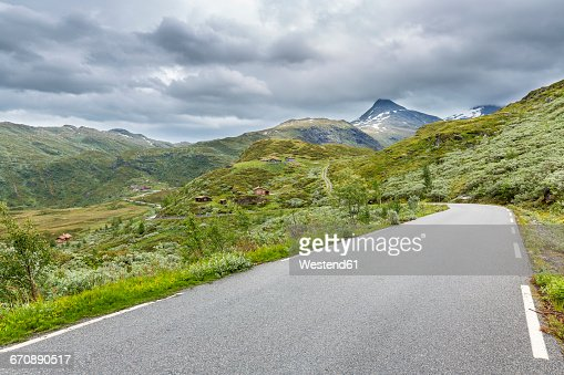 Southern Norway, Jotunheimen National Park, empty road, Sognefjell