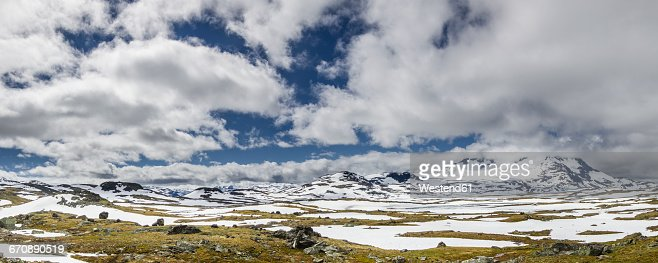 Southern Norway, Jotunheimen National Park, panoramic view at Sognefjell