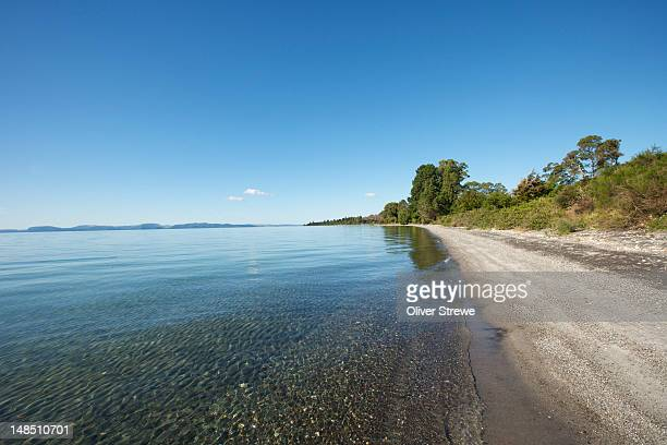 Southern shore of Lake Taupo.