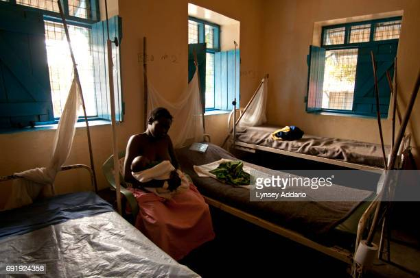A Southern Sudanese woman sits in a hospital ward for women and children in Nimule South Sudan in February 2008 Villagers continue to be living in...