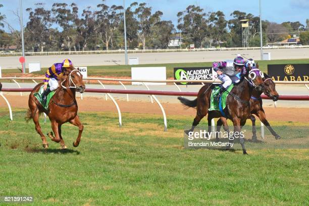 Southern Turf ridden by Linda Meech wins the Manang Cup 14th October 2017 2YO Maiden Plate at Swan Hill Racecourse on July 24 2017 in Swan Hill...