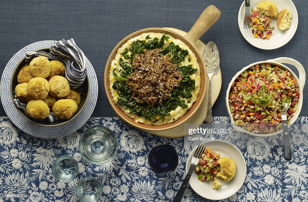 Southern Vegetarian Meal : Stock Photo