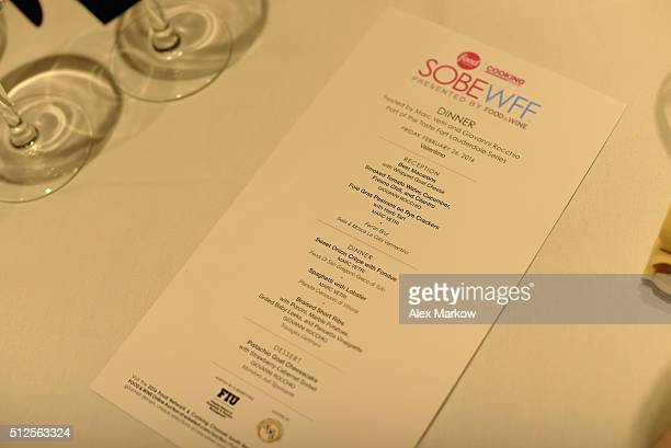 Southern Wine and Spirits on display at a Dinner Hosted By Marc Vetri And Giovanni Rocchio Part of the Taste Fort Lauderdale Seriesduring 2016 Food...