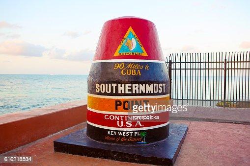 Südlichste Punkt der kontinentalen USA in Schlüssel West : Stock-Foto