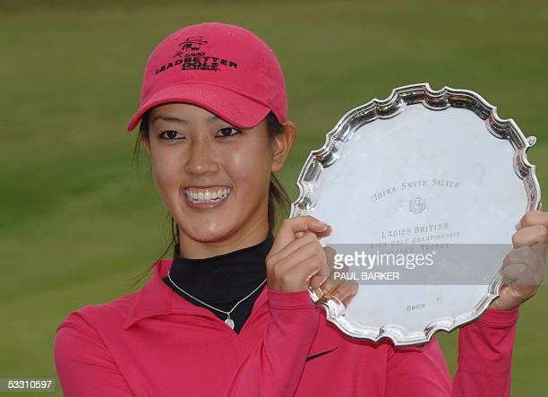 America's Michelle Wie takes the amateur title at the Women's British Open Golf at Royal Birkdale Golf Club Southport Merseyside United Kingdom...