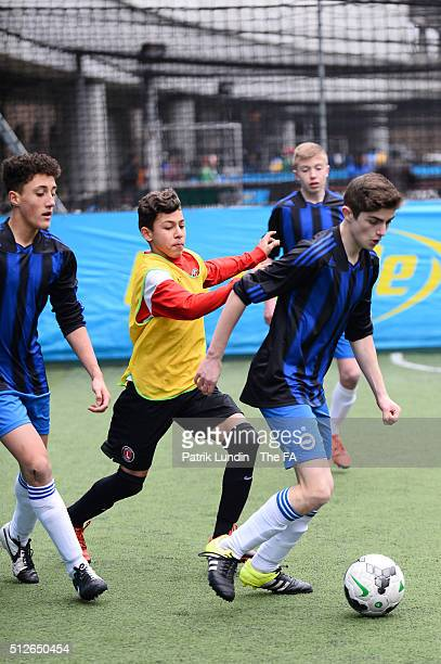 Southwark Allstars and HP8 during the People's Cup SemiFinals London City on February 27 2016 in London England