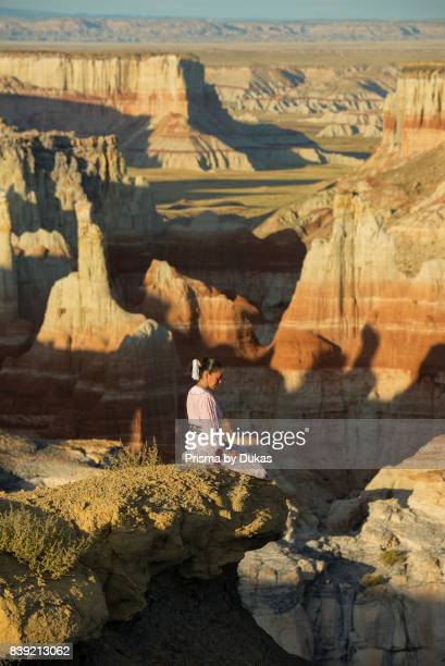 Southwest Arizona Navajo Indian reservation four corners Dine woman in traditional dress