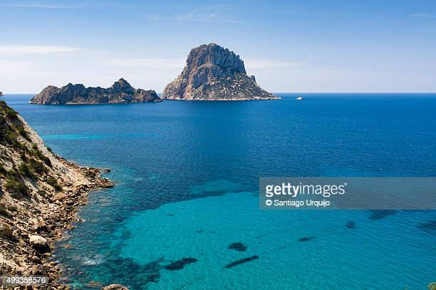 Southwest coastline of Ibiza with islet Es Vedra