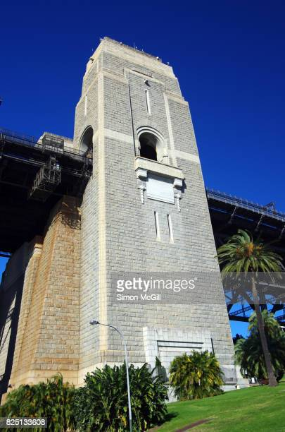 South-west pylon of the Sydney Harbour Bridge, Dawes Point, Sydney, New South Wales, Australia