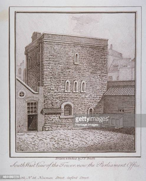 Southwest view of the Jewel Tower Old Palace Yard Westminster London c1805 Together with Westminster Hall the Jewel Tower is one of the only...