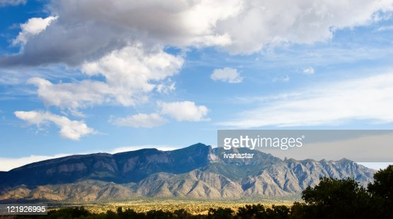 Southwestern Landscape with Sandia Mountains