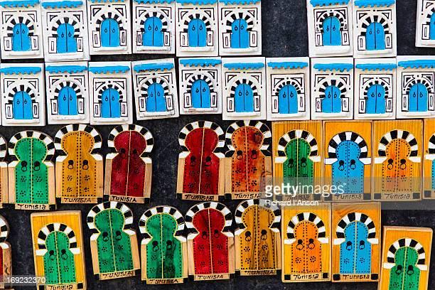 Souvenier magnets at shop in Sidi Bou Said