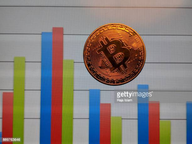 Souvenir bit coin with graph