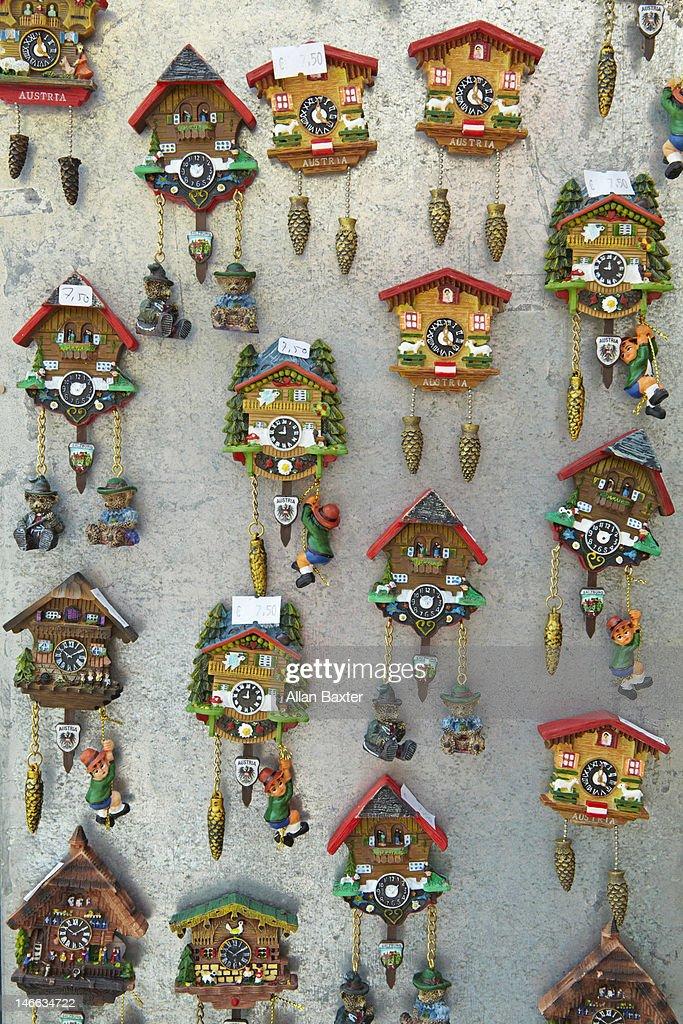 Souvenir Cuckoo clocks : Stock Photo