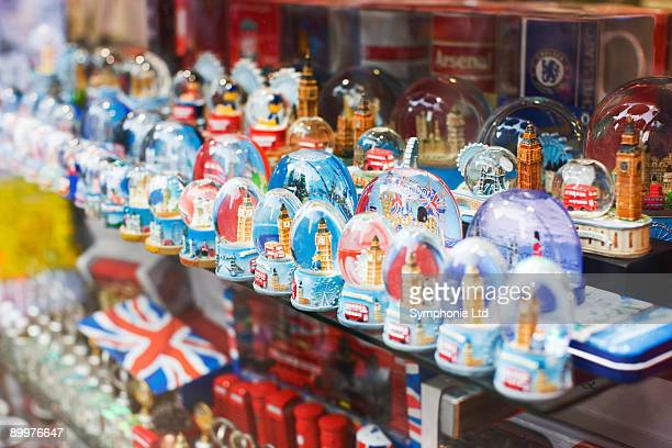 souvenir shop window, London