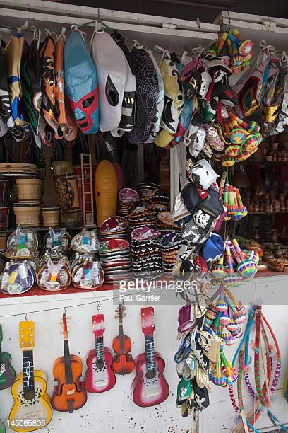 A souvenir stall, Mexico City, Mexico