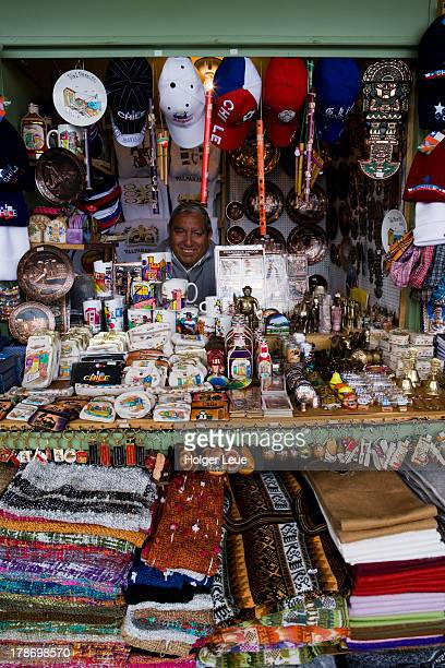 Souvenir stand at market