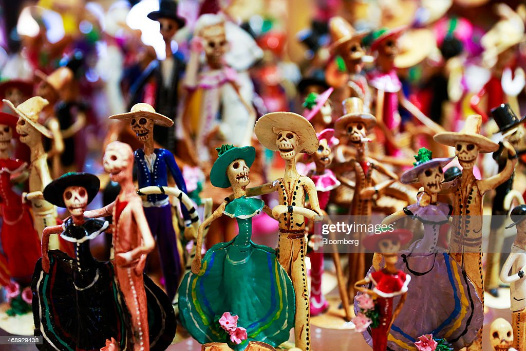 Souvenirs line the walls at Hernandez Gallery in downtown Tulum Mexico on Friday April 3 2015 International tourists exceeded 142 million in 2014...