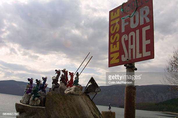 Souvenirs made by monster hunter Steve Feltham who has lived in a van on the banks of Loch Ness for 10 years in the hope of catching a glimpse of the...