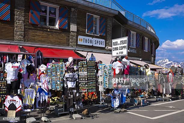 Souvenirs of The Stelvio Pass Passo dello Stelvio Stilfser Joch on sale at Cima Coppi in Ortler Eastern Alps Northern Italy