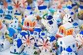 souvenirs of famous greek island Santorini