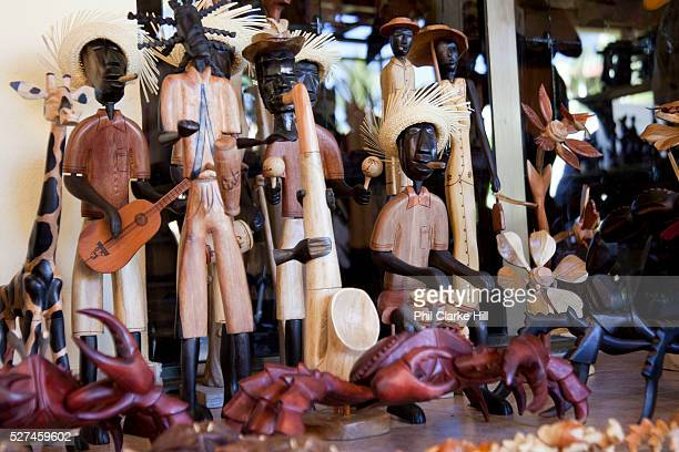 Souvenirs wood in a hotel Cayo Coco island and resorts Ciego de Avila province Cuba