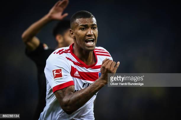 Souza Silva Walace of Hamburg in action during the Bundesliga match between Hamburger SV and Borussia Dortmund at Volksparkstadion on September 20...