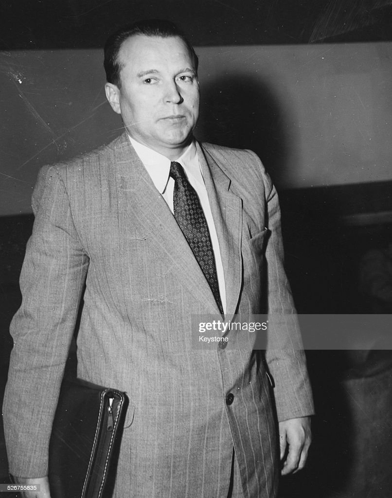 Soviet Ambassador to the UN Jacob Malik arriving at a United Nations Security Council Meeting Lake Success New York August 14th 1950