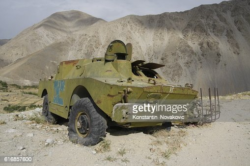 Soviet armoured car in Afghanistan : Stock Photo