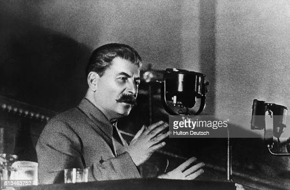 Soviet leader Joseph Stalin reports to the 8th AllUnion Congress of Soviets on the draft Constitution of the USSR