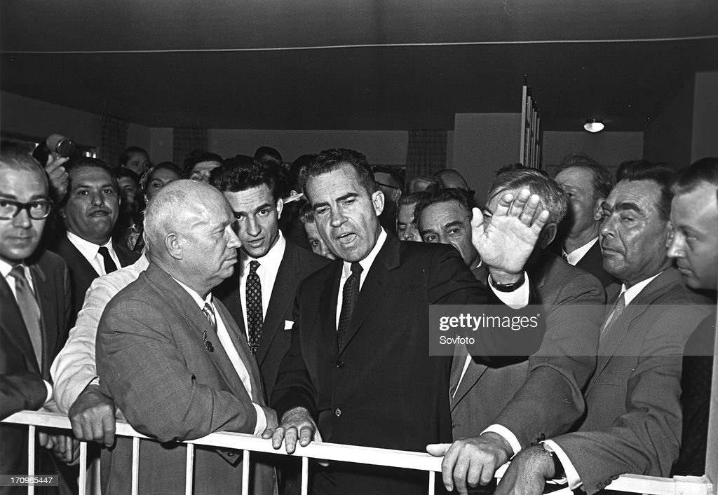 Image result for Richard Nixon and Nikita Khrushchev Kitchen Debate