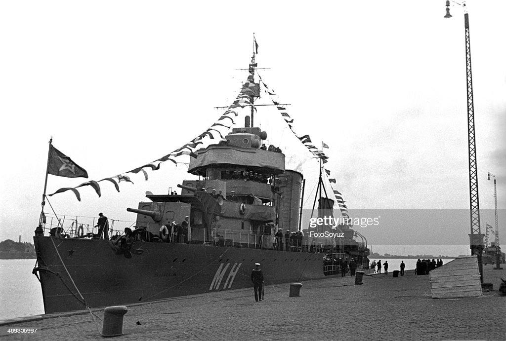 Soviet warships in Riga port, 1939.