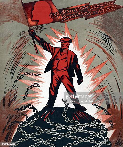 Soviet Russian propaganda poster 1929