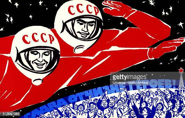 Soviet space propaganda poster The Space Race was a 20th century competition between two Cold War rivals the Soviet Union and the United States for...