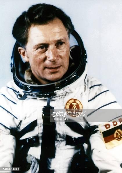 Soviet Union Spaceflight Sigmund Jaehn cosmonaut major general of East Germany's army in his spacesuit 1978