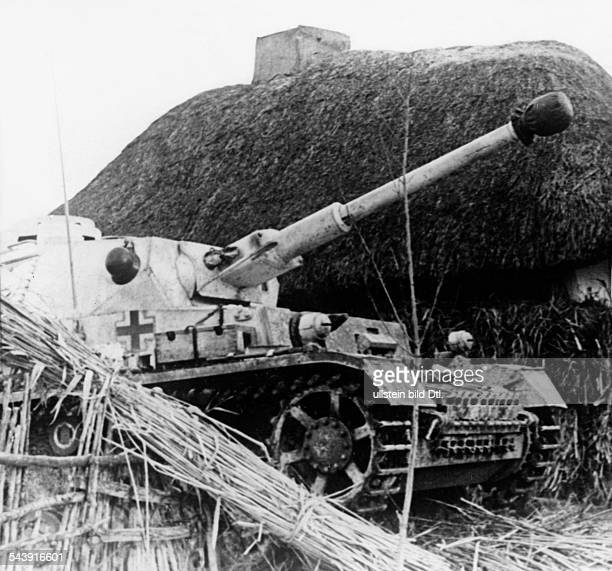 Soviet Union Ukrainian SSR Charkov Kharkov Kharkiv 2 World War Eastern Front German tank in the region of Kharkiv Photographer PresseIllustrationen...