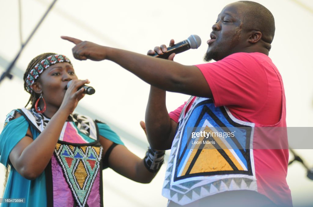 Soweto Gospel Choir performs on stage at Womadelaide 2013 at Botanic Park on March 10, 2013 in Adelaide, Australia.