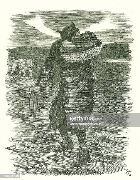 Sowing Tares Fear that Socialism was spreading amongst the British labour force John Tenniel cartoon from Punch London 27 February 1886