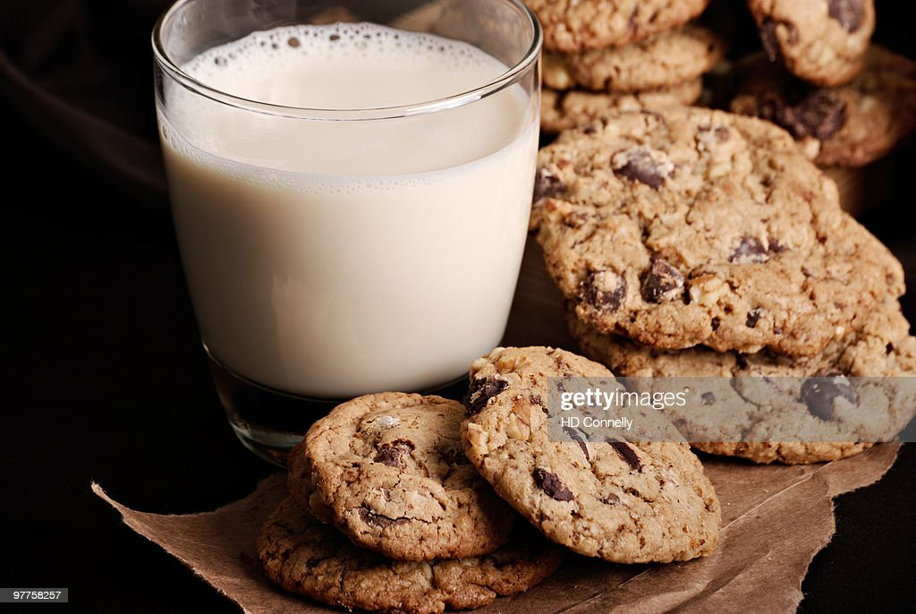 Soy milk and chocolate chip cookies